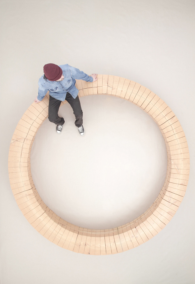 WOODRING top 02 Wood Ring Bench by Chris Kabel on thisispaper.com
