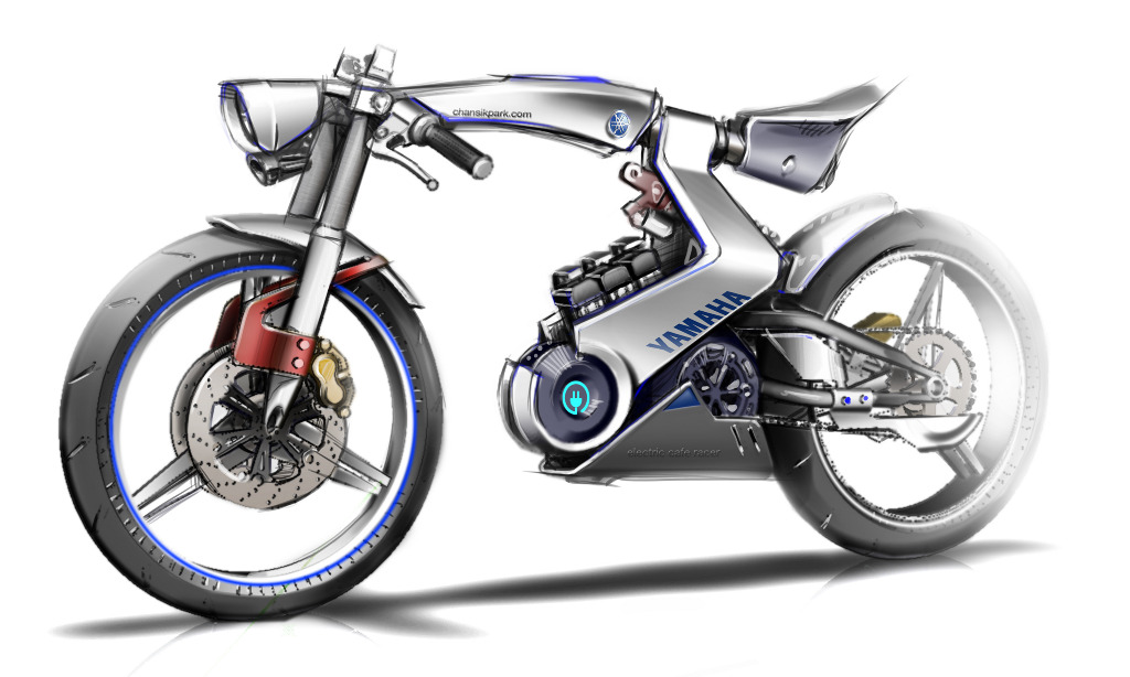 Yamaha 39 open source 39 electric motorcycle chan sik park for Yamaha electric motorcycle